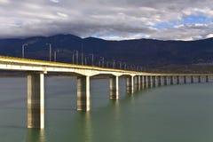 Bridge in central Greece. Bridge at Greece over Aliakmon river Stock Images