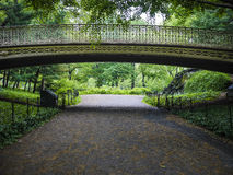 Bridge in Central Park, New York City Stock Images