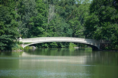Bridge in central park Royalty Free Stock Photo