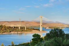 Bridge in Chalcis, Greece Stock Images