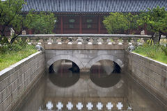 Bridge in Changdeokgung Palace Royalty Free Stock Photos