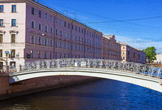 Bridge on the channel of Griboedov in St Petersburg,. Russia Royalty Free Stock Images