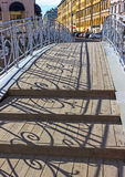 Bridge on the channel of Griboedov in St Petersburg, Royalty Free Stock Photography