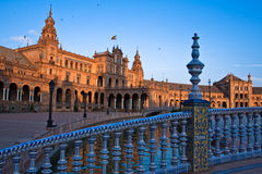 Bridge through the channel on the Spain`s Square Stock Photos