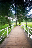Bridge in charming park Stock Photo