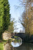 Bridge in Cheshire UK. Bridge over Trent and Mersey Canal in Cheshire UK Royalty Free Stock Photo