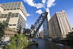Bridge in Chicago. Bridge in Downtown Chicago, IL royalty free stock photos