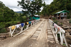 Bridge in Chin State, Myanmar Stock Photography