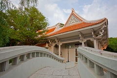 Bridge&China arkitektur Arkivfoton