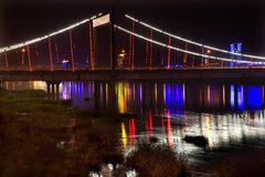 bridge china fushun jiangqun night Στοκ εικόνα με δικαίωμα ελεύθερης χρήσης