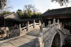Bridge in China park Royalty Free Stock Image