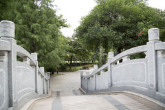 Bridge in chinese garden Royalty Free Stock Image