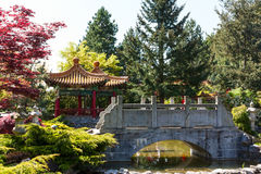 Bridge in a Chinese Temple. Stock Image