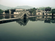 Bridge in a Chinese Village Stock Images