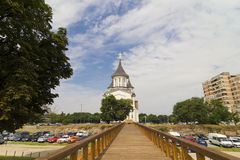 The bridge and the church Royalty Free Stock Photo