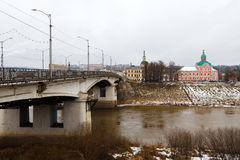 Bridge and church. Smolensk. Stock Photos