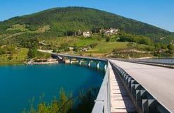 Bridge on the Cingoli lake, Marches Royalty Free Stock Image