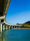 Bridge in Cingoli Marche Italy. One of the bridges that cross the artificial Castreccioni`s lake in Italy Stock Images