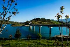 Bridge in Cingoli Marche Italy. One of the bridges that cross the artificial Castreccioni`s lake in Italy Stock Photos