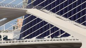 Bridge at the City of Arts and Sciences in Valencia stock footage