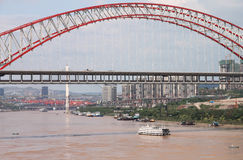 Bridge. The city is chongqing of china,the arch bridge is across the river,its very big Stock Image