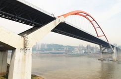 Bridge. The city is chongqing of china,there are many bridge across the yangtze ricer Royalty Free Stock Photo