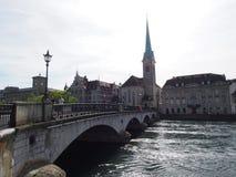Bridge in City in Daylight royalty free stock photo