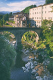 The bridge in the city of Italy Stock Images