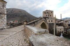 Bridge on the city mostar Royalty Free Stock Image