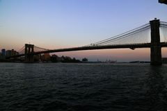 Bridge in the city royalty free stock image