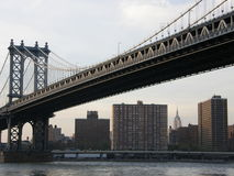 bridge city new york στοκ εικόνα