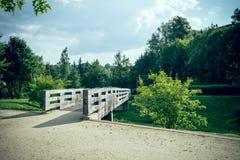 Bridge in city park Stock Photo