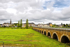 Bridge in the City of Sedan in France Royalty Free Stock Photos