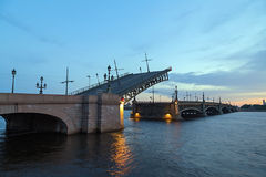 Bridge in the city of St. Petersburg, Russia Stock Photography