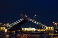 Bridge in the city of St. Petersburg, Russia Royalty Free Stock Photos