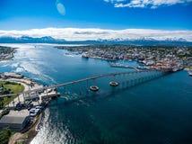 Bridge of city Tromso, Norway Stock Photography