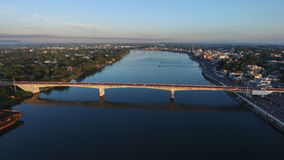Bridge of the city of Veracruz seen from a dron Royalty Free Stock Photography