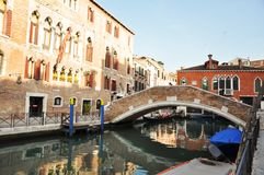 Bridge close to Rome Square, Venice Royalty Free Stock Photography