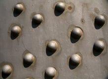 Bridge close up. Close up of metal pins in an iron bridge Stock Images