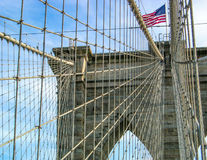 The Bridge. A close-up of the Brooklyn Bridge in Nw York, U.S.A Royalty Free Stock Images