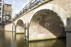 Bridge close up in the canals of Amsterdam Stock Image