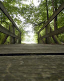 Bridge. Close up of a small wooden bridge in Tennessee Royalty Free Stock Image
