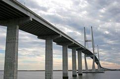 Bridge in Clouds Royalty Free Stock Image