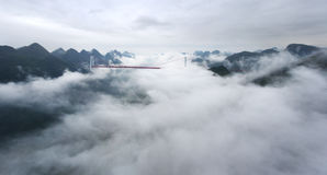 A bridge in the clouds Stock Image
