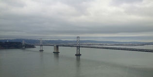 Bridge During Cloudy Day In San Francisco royalty free stock image