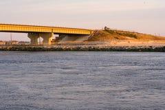 Bridge on coastline Royalty Free Stock Photo
