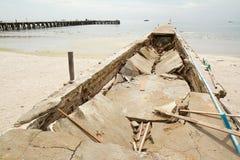 Bridge collapse Stock Images