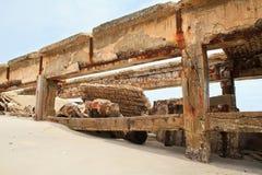 Bridge collapse Royalty Free Stock Images