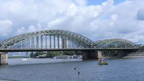 Bridge in Cologne, Germany stock video footage