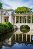 Bridge With Colonnade Over Canal Stock Photography